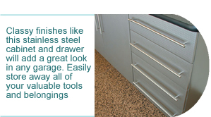 stainless steel cabinet and drawer